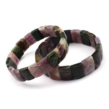 цены natural tourmaline stone beads bracelet natural energy stone bracelet DIY jewelry for woman wholesale !