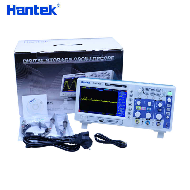 Hantek DSO5202P oscilloscope de stockage numérique 70-200 MHz 2 canaux 1GSa/s 7 ''TFT LCD couleur longueur d'enregistrement 40 K 5102 P/5072 P