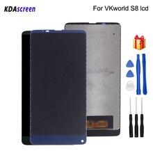 Original para vkworld s8 display lcd montagem da tela de toque peças do telefone para vkworld s8 tela lcd ferramentas gratuitas