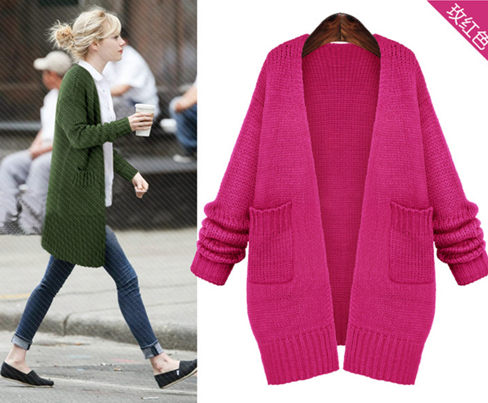 New Winter Spring 2016 Korean V neck Cardigan Women Sweaters ...