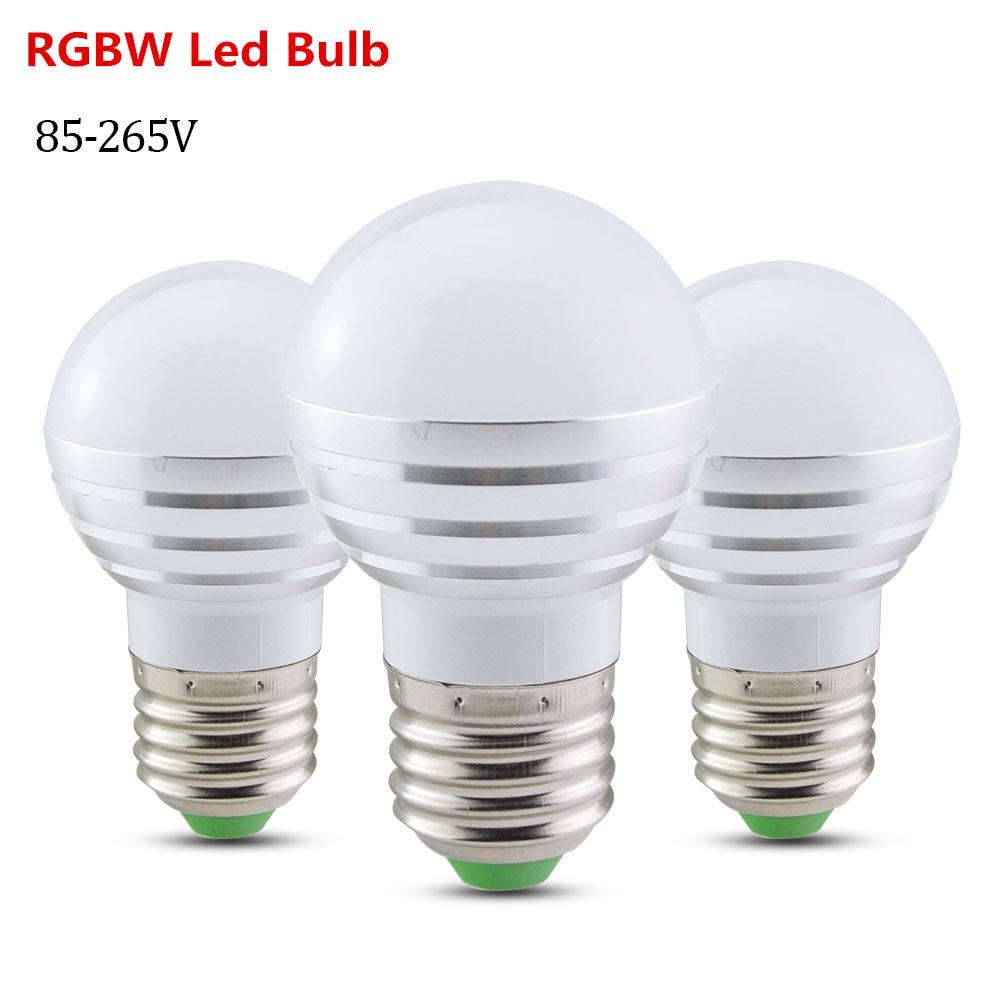 Novelty rgbw led light bulb e27 e14 5w lampada led lamp 85 for Lampada led e14