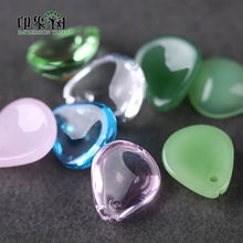 10pcs 10x12mm Cabochon Tear Drop Crystal Opal Color Lampwork Glass Blossom Flower Petals Bead Handmade DIY Jewelry Making 16015(China)