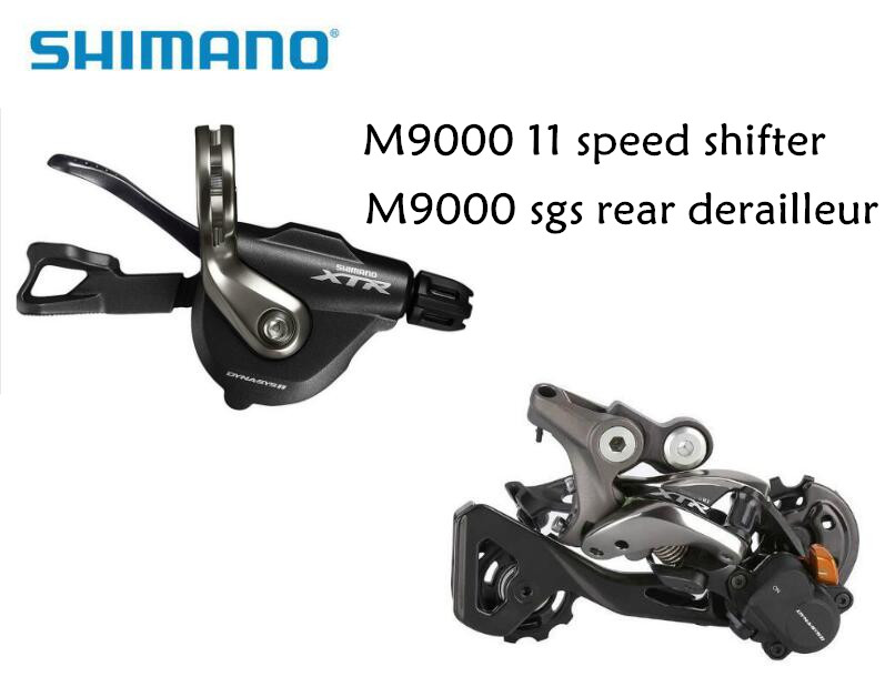 SHIMANO XTR M9000 11 vitesses déclencheur manette de vitesse 11 vitesses dérailleurs arrière SL-M9000 RD-M9000 SGS livraison gratuite