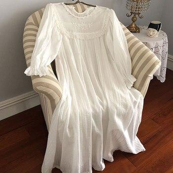 Женское платье в стиле Лолиты; Ночная рубашка принцессы в винтажном дворцовом стиле с кружевной вышивкой; Ночная рубашка в викторианском стиле; Одежда для сна 4