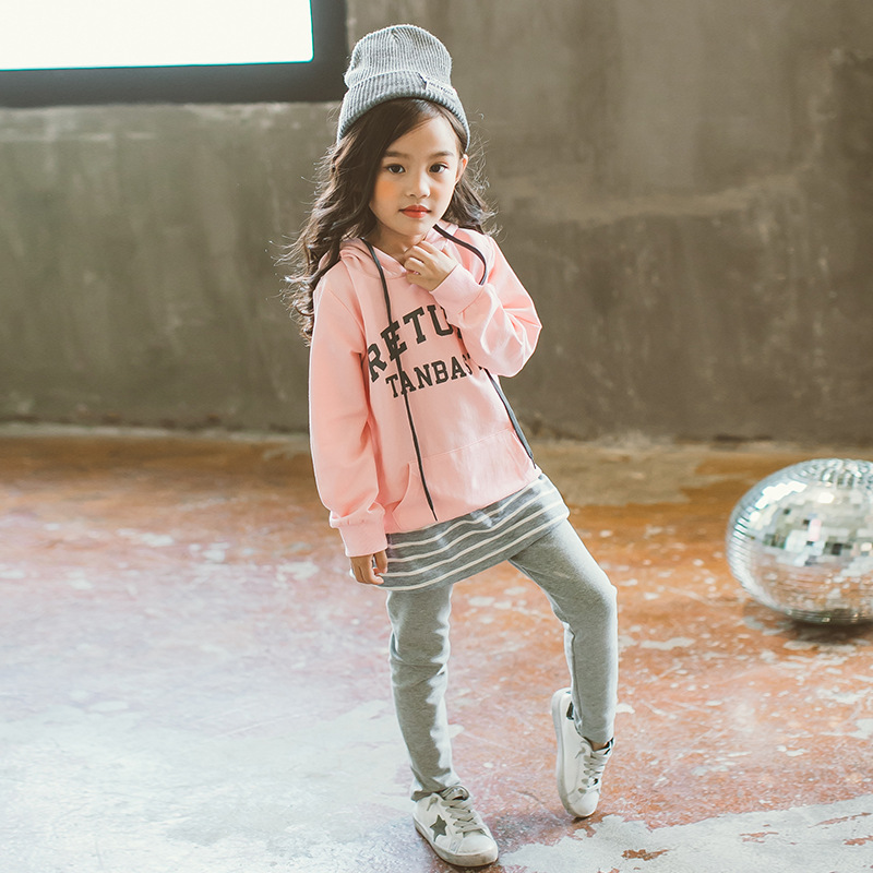 Winter Autumn Girls Clothing Sets 2017 New Kids Clothing Sets Children Clothing Fashion Sweatshirts+Pants Suit