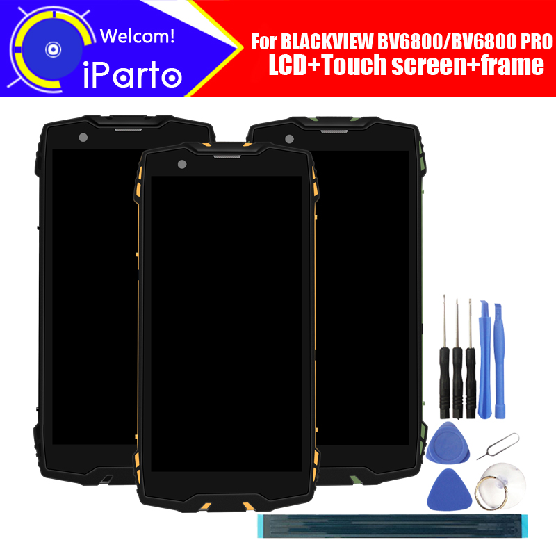 5 7 Blackview BV6800 LCD Display Touch Screen Digitizer Frame Assembly 100 Original LCD Touch Digitizer