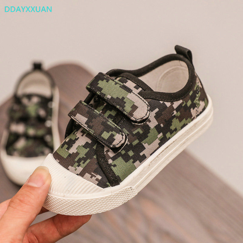 Children Canvas Shoes 2018 New Autumn Toddler Printed Girl Sneakers for Kids Sports Shoes Flat Baby Boys Sneaker EU 21~30