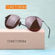 Toketorism retro polarized men women sunglasses brand designer anti-glare uv400 Pilot glasses 0506