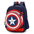 2016 New Captain America School Bags for Boys Children Backpacks Fashion Girls Kids Satchel Mochila Infantil Schoolbags Grade1-6