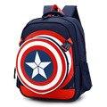 2016 Nuevo Capitán América Muchachas de La Manera Niños de La Taleguilla Mochilas escolares para Niños Mochilas Mochilas Mochila Infantil Grade1-6