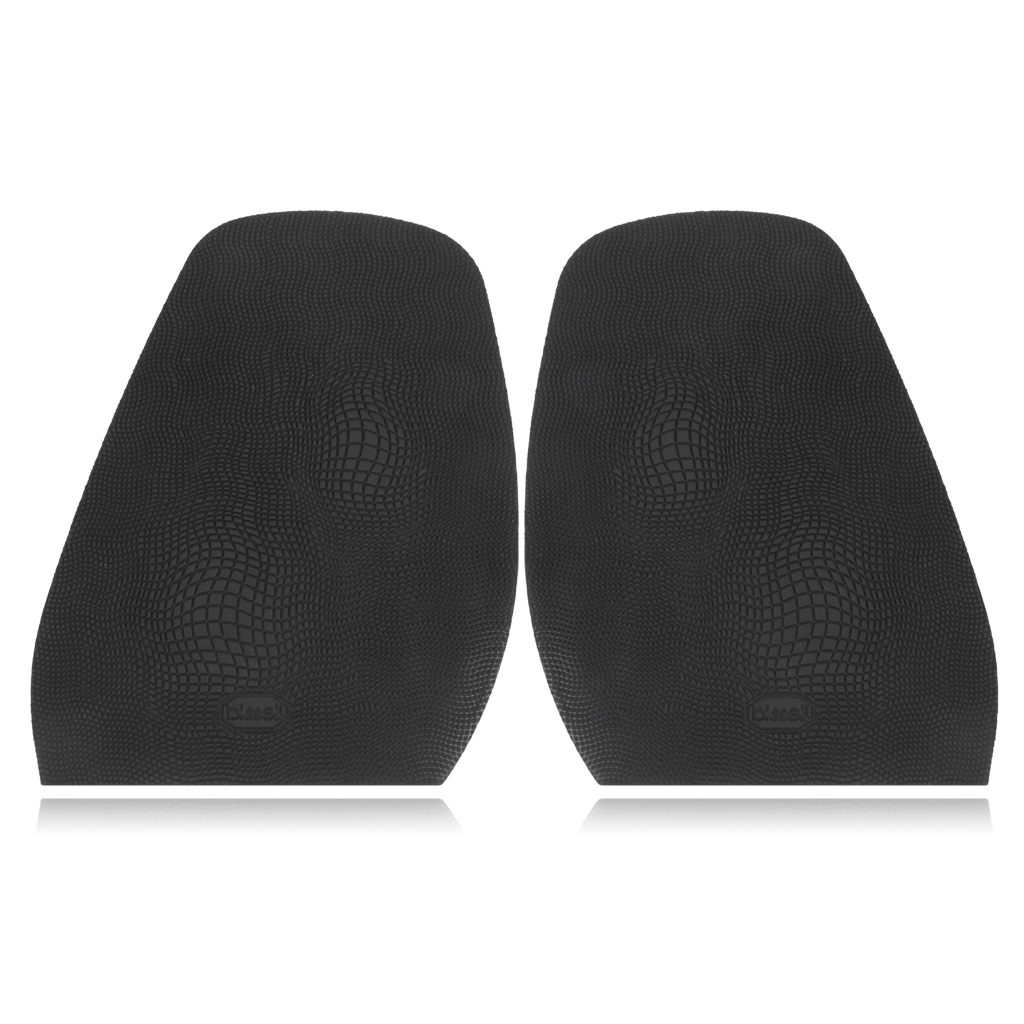 Unisex Insoles Soft 1 Pair Rubber Glue on Large 1.9mm Heels 6.5mm Alligator Grain Black Pads Insoles for Shoes Men Women