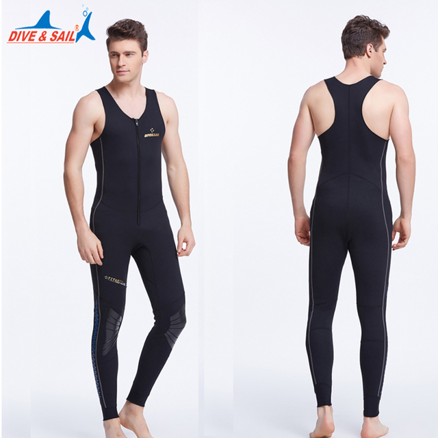 Dive Sail mens Heated Wetsuit Vest sleeveless Triathlon wetsuits diving  vest 1mm neoprene men wetsuits plus size xxxl 2b8a6851c