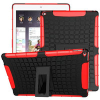 Heavy Duty Impact Hybrid Armor Cover Tablet Hybrid Stand Hard PC TPU Rubber Armor Case For