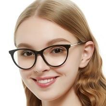 Black Eyeglasses Frame Transparent Glasses Spectacle Myopia Prescription Nerd Optical Frames Women MARE AZZURO OC7059