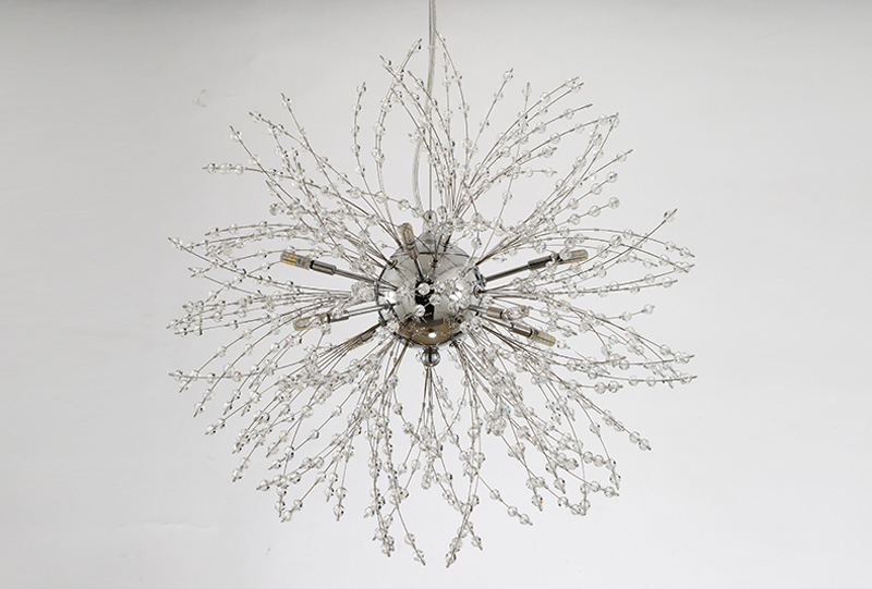 Nordic 110V-240V Crystal Dandelion Pendant Lamp Personalized Luxury Romantic Pendant Lights Creative Chandelier For Living Room Restaurant (9)