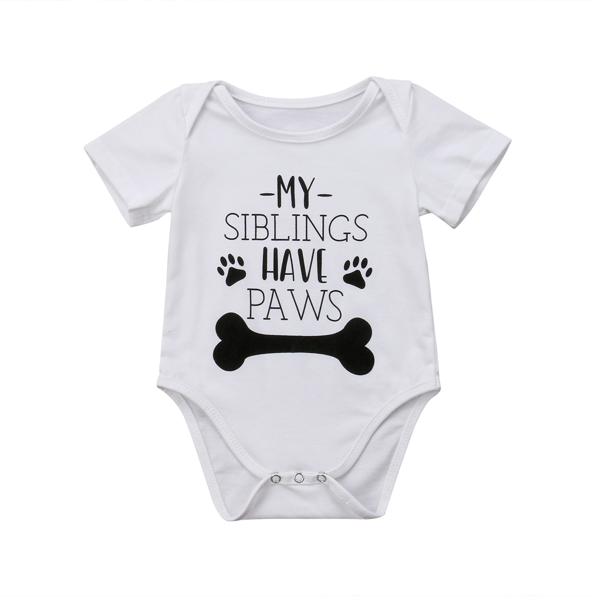 Newborn Infant Baby Boy Girls Funny Short Sleeve Bodysuit Jumpsuit Clothes Outfits Size 0-24M