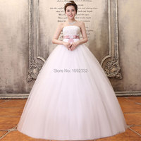 s 016 new plus size women bridal gown Sweet princess bandage wedding dress belt simple fashion sexy romantic h116qianxi