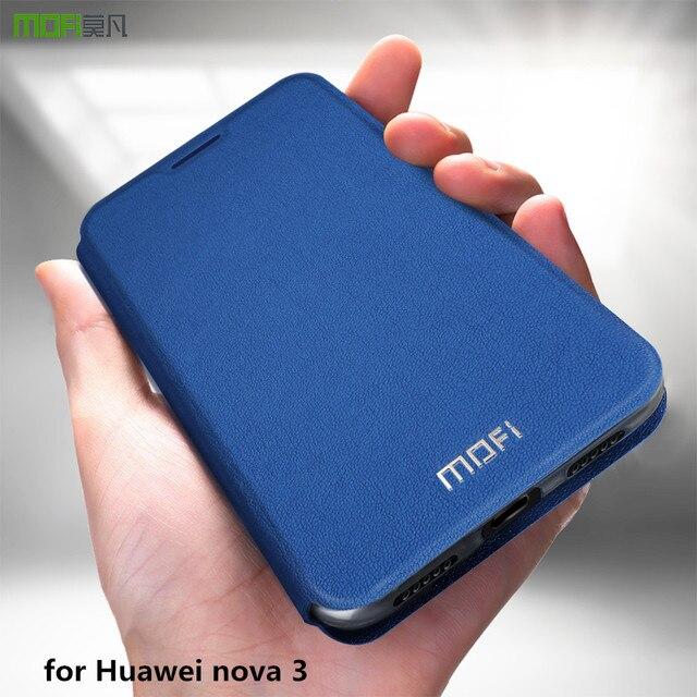 MOFi מקרה עבור Huawei נובה 3 ספר מקרה עבור נובה 3 Flip כיסוי עור מפוצל Coque עבור Huawei Nova3 יוקרה עמיד הלם עסקים פגז