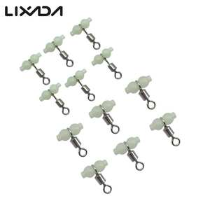 12Pcs lot  3 way luminous T-shape cross-line rolling swivel fishing swivels fishhooks fishing connector Wholesale