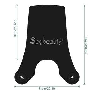 Image 5 - Segbeauty מעצב מספרה חיתוך כבר צווארון שחור גומי צוואר לעטוף צוואר משמר תספורת שיער צבע שיער חיתוך כלים