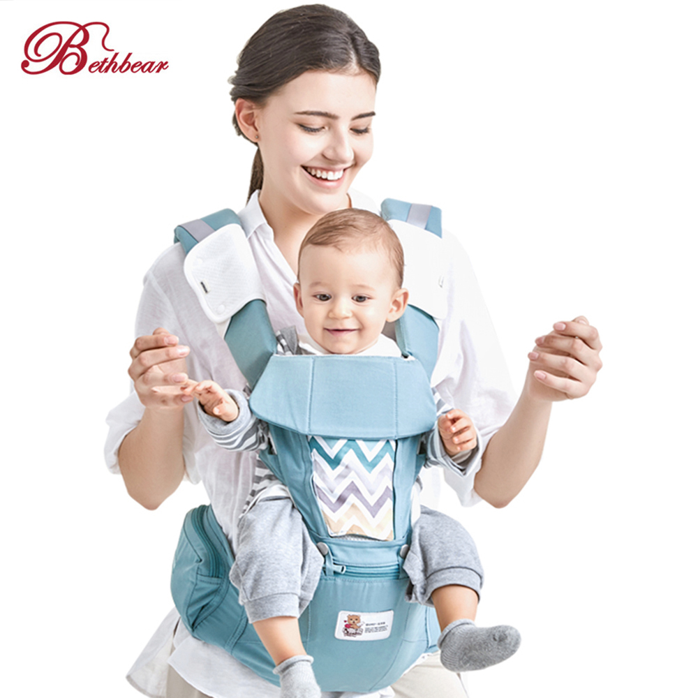 Beth Bear 0-36 M Breathable Baby Hipseat Carrier 4 In 1 Baby Backpack Carrier Infant Sling Backpack Pouch Wrap Baby Kangaroo New baby carrier backpack