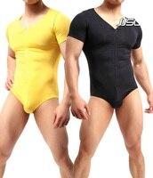 Men's jumpsuits Modal Solid Sexy Comfortable Zipper Open Stitchs Bodysuit men's underwear Body building Homerwear European JJ60