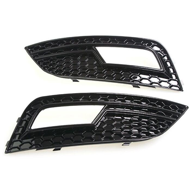 For Audi A4 Modified RS4 Style Front Fog light fog lamp Trim Grille Grill Car Styling 2013 2014 2015 Standard Bumper for audi a7 modified rs7 style front hood center grille grill car styling 2012 2013 2014 2015