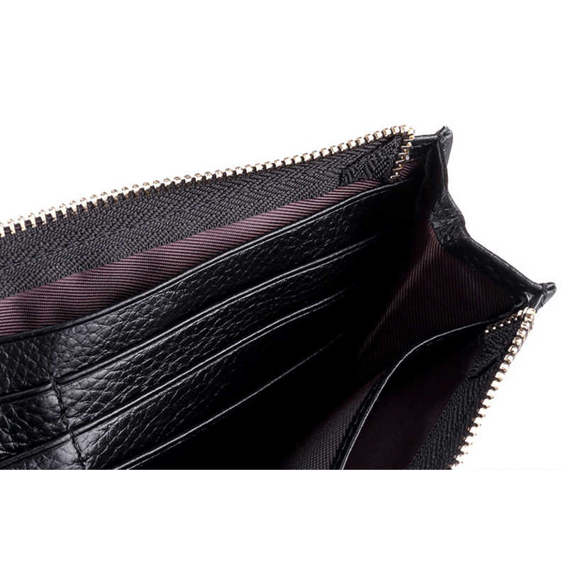 0396ec8145a8 IVANNIE Women Genuine Leather Slim Wallets Long Multiple Cards Holder  Clutch Purse Female Original Leather Solid Wallet Designer
