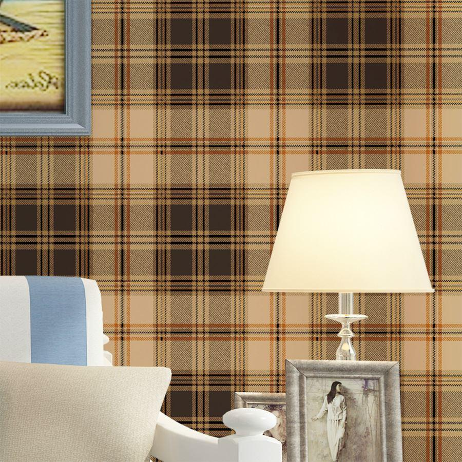 England Grid Wallpaper British American Pastoral Scottish Plaid Non Woven Living Room Modern Bedroom In Wallpapers From Home