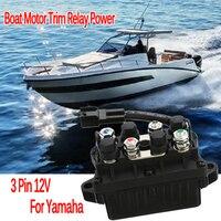 1Pc Boat Motor Trim Relay Power 3 Pin 12V+ 20% 120A For Yamaha 30 90HP 6H1 81950 00 00 Aluminum Bronze + Plastic IP67 Waterproof