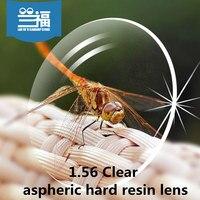 Klar 1 56 Index Lensesaspheric harte harz objektiv Hard & Multi-coatedEMI DefendingCoating optische verordnung linsen für brillen