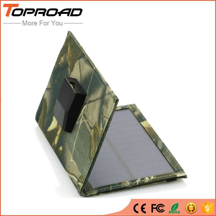 imágenes para Célula Del Panel Solar plegable Plegable USB Móvil Cargadores Banco de la Energía de Batería Externa Del Cargador Solar Portátil para teléfonos móviles mp3 GPS