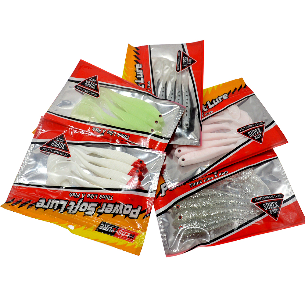 Image 2 - WLDSLURE Soft Bait 5pcs/lot 12.5cm 6g Single Tail Grub Minnow Fishing Lure isca artificial-in Fishing Lures from Sports & Entertainment