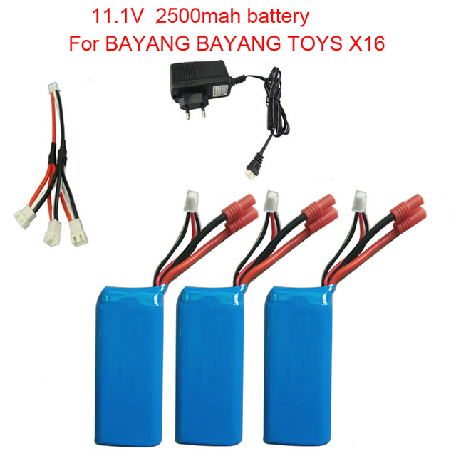 jjrc BATTERY FOR BAYANG BAYANGTOYS X16 RC Quadcopter Spare Parts 11.1V 2500mAh Battery For RC Camera Drone Accessories