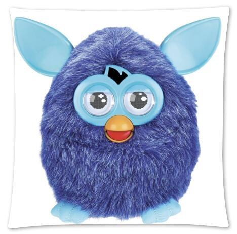 Custom Home Bed Zippered Square Single Blue Furby Pillowcase 18x18,16x16inches(Twin sides) Cushion U9-01