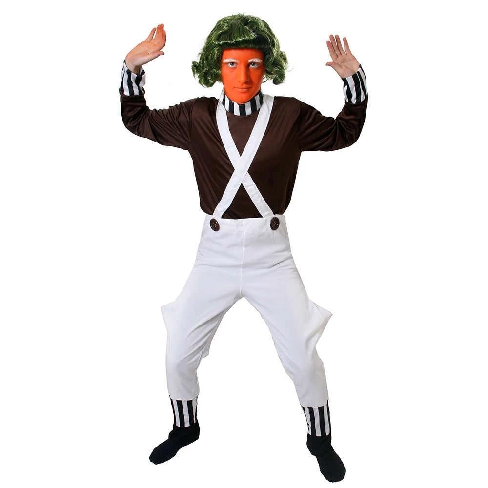 Mens Chocolate Man School Book Day Week Film Fancy Dress Costume Outfit M-XL
