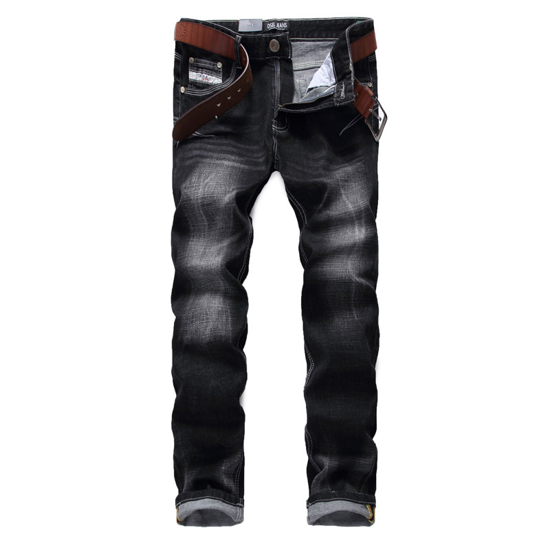 High Quality Fashion Men Jeans Dsel Brand Slim Fit Skinny Jeans For Men Black Color Elastic Printed Jeans Pants,100% Cotton etiger hot selling b11 dual network pstn and gsm burglar security alarm system 315