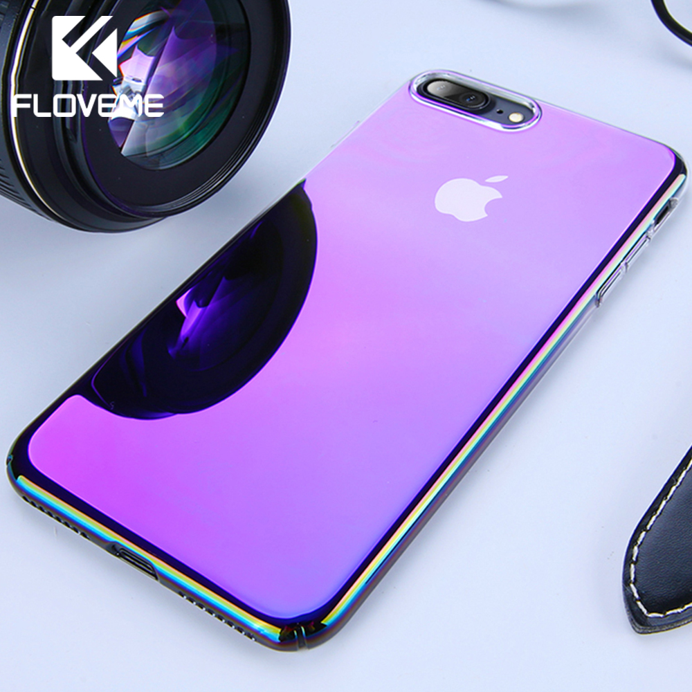 FLOVEME Unique Case For IPhone 5 5S X XS Max Luxury Gradient Ultra Thin Plastic Cover For IPhone 7 8 Plus SE 7 XR 6 6S Case Capa