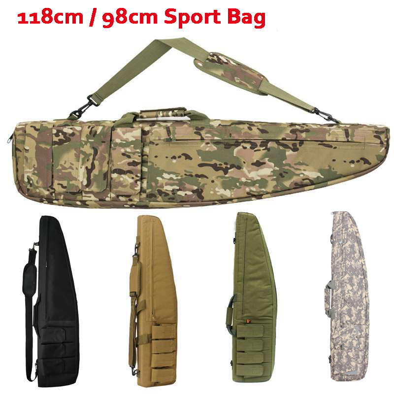 98cm / 118cm Tactical Sniper Rifle Gun Carry Bag Outdoor Hunting Shooting Rifle Airsoft Air Gun Protection Shoulder Bag men and women lovers style pure hand carved hollow out god beast pendant necklace sweater chain