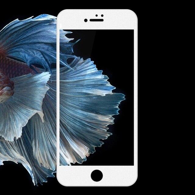 Devia jade ultrafina de la serie completa de vidrio templado film protector de pantalla para iphone 7 plus 5.5 pulgadas-blanco