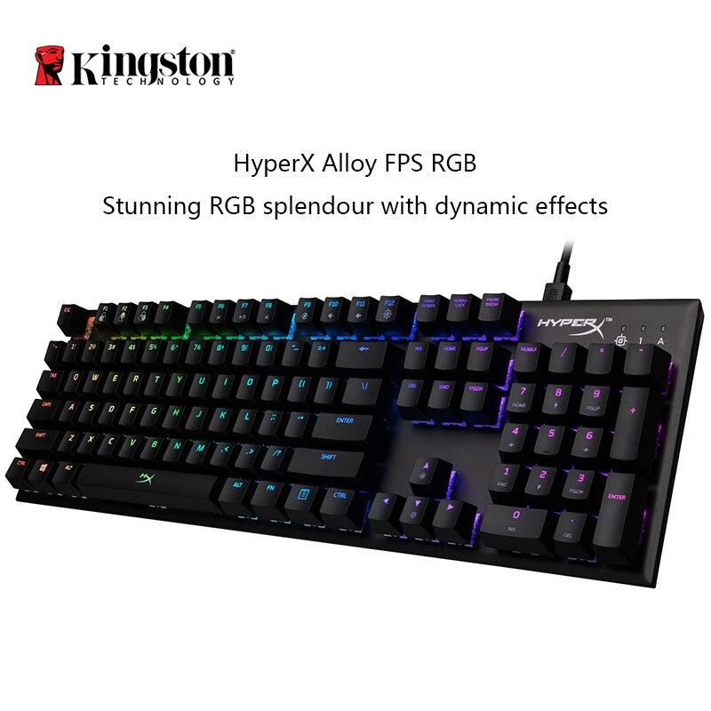 KINGSTON HyperX Alloy FPS RGB Gaming Keyboard E sports keyboard mechanical keyboard dynamic effects in a