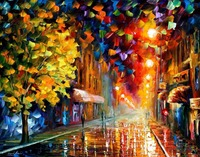 Landscape Painting For Sale Colorful Oil Paintings Canvas Happy Street Modern Wall Art Home Decor High