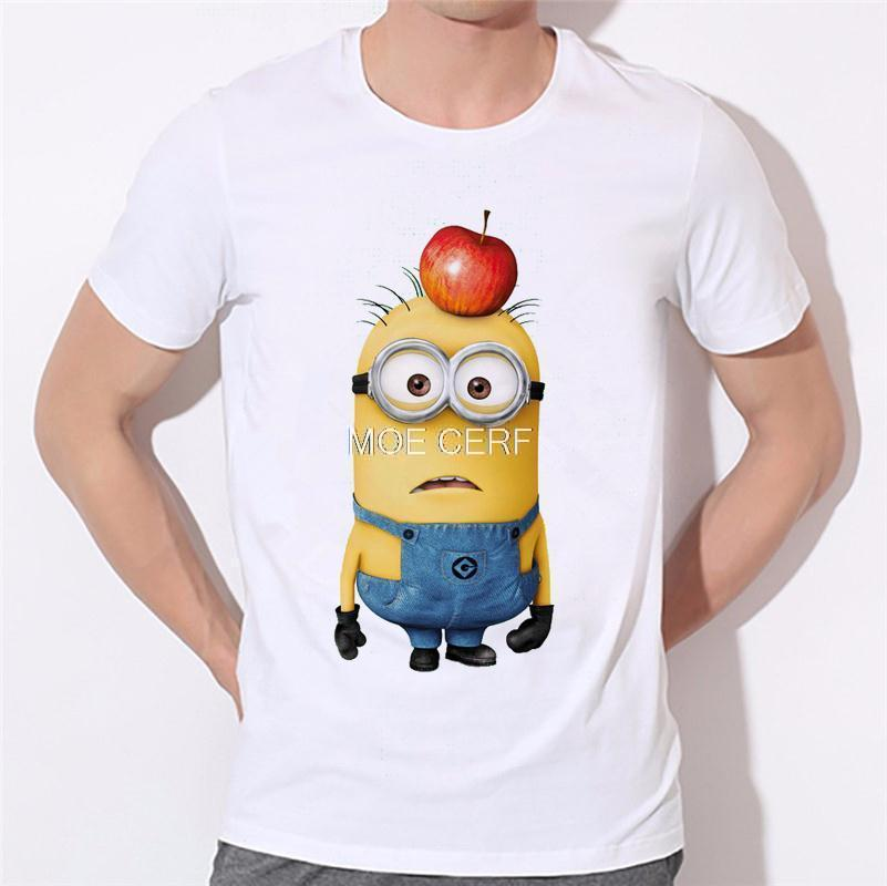 ALI shop ...  ... 32700459428 ... 2 ... 2019 men's fashion funny design simple one eye minion printed t-shirt cute tee shirts Hipster new arrivals O-neck cool top 18-1# ...