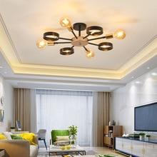 American LED illumination bedroom ceiling lights living room lighting postmodern home fixtures Iron art loft lamps