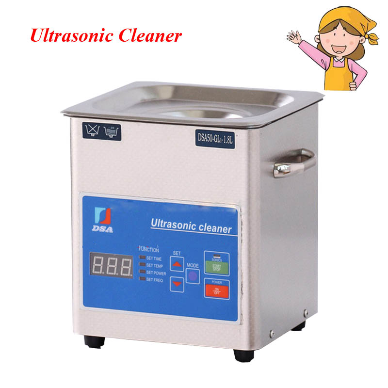 1PC Digital 110/220V Ultrasonic Cleaner Stainless Steel 1.8L Adjustable Free Basket Cleaning Machine DSA50-GL1 фото