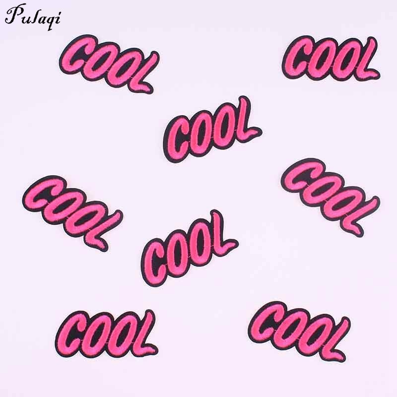 pulaqi wholesale price 10pcslot cool patches iron on clothes diy embroidered letter patches kid coat decor parches h
