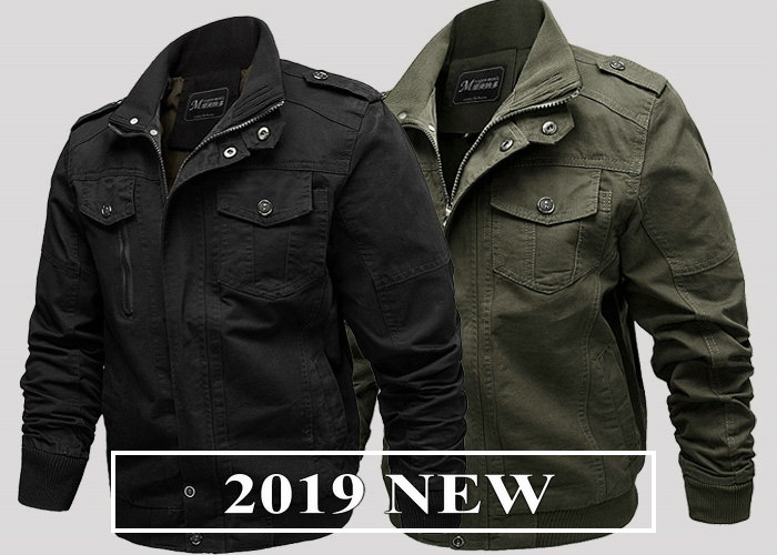 2019 Spring Autumn Bomber Jackets Coats Men Cotton Casual Workout Military Jacket Men