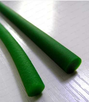 واحد متر القطر 7 مللي متر الأخضر الأحمر بو جولة حزام متزامن حزام القيادة الحزام الناقل بو الأخضر الخشنة سطح حزام 7 1 قطعة