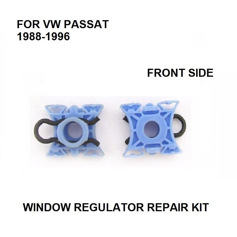 X2 FOR VW PASSAT B4 B3 WINDOW REGULATOR SLIDER CLIPS FRONT LEFT Or RIGHT NEW 1988-1996