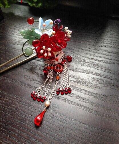 Colored Glaze Cherry Blossom Tong Po Vintage Classica Hair Stick Hair Jewelry планшет 3q qoo glaze rc7804f купить